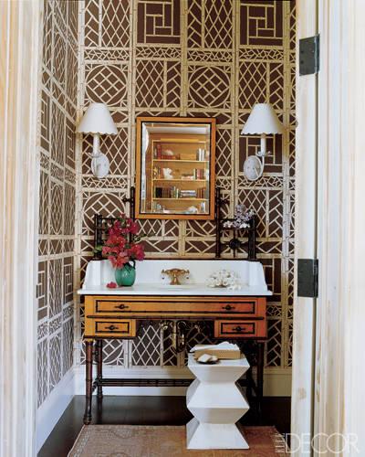 Jewel box powder rooms for Historic bathroom designs