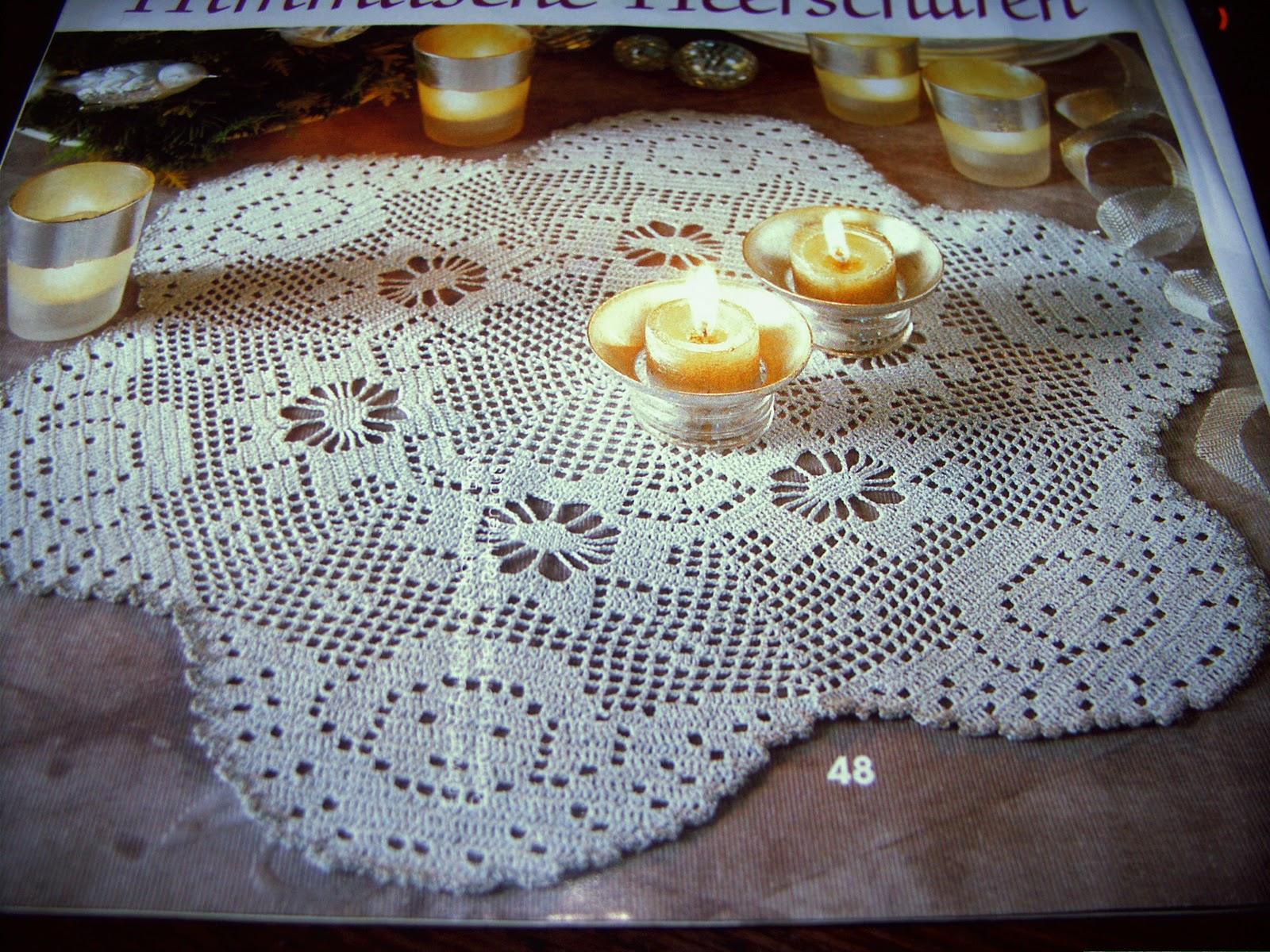 Ghasal\'s Kreativblog: Filet häkeln - Weihnachtsmuster
