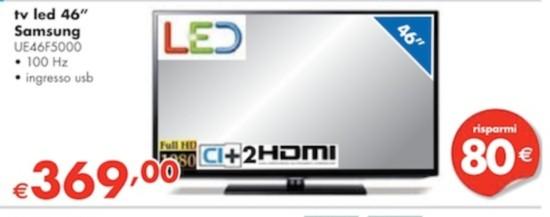Miglior prezzo samsung ue46f5000 tv 46 pollici in offerta for Tv 75 pollici prezzo