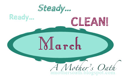 "March's ""Ready... Steady... Clean!"" evaluation at AMothersOath.blogspot.com"