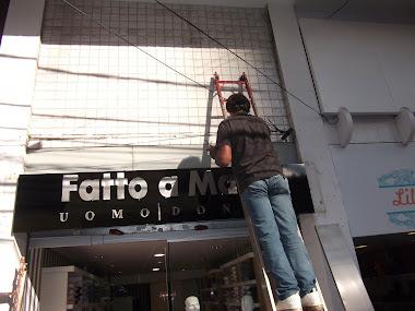 instalação Fachadas em ACM Brilhante, Letreiros em Letras Caixa Loja Fatto Mano São Paulo-SP