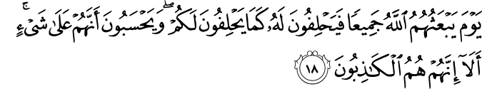 Surat Al-Mujadilah Ayat 18
