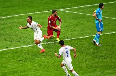 Cuplikan Gol Spanyol VS Chile 0-2 Piala Dunia Brazil 2014