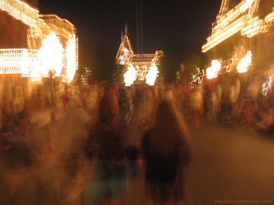 Disneyland Main Street Blurry catching cold shakey vacation sick