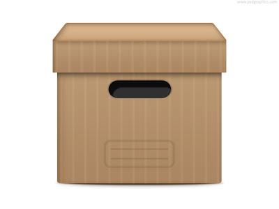 Caja de archivos en psd