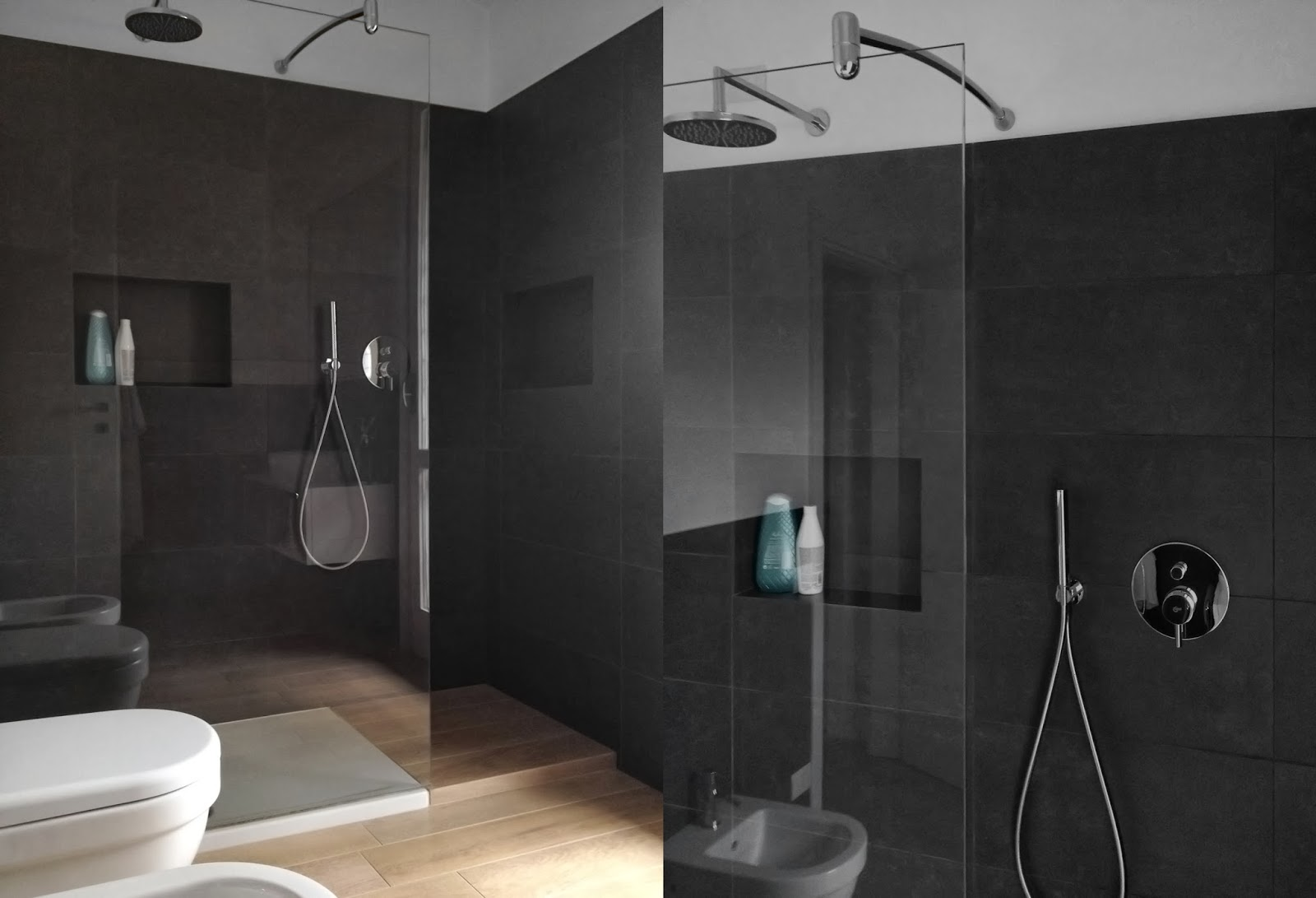 Details of us home spa step by step - Bagni con pavimento in legno ...