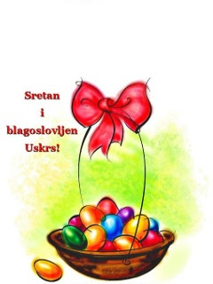 Sretan i blagoslovljen Uskrs - čestitka download besplatne pozadine slike za mobitele