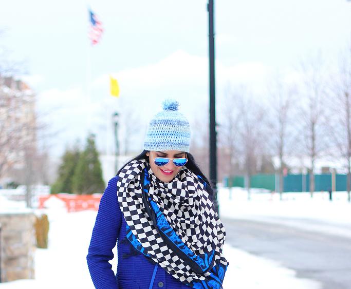 Snow Outfits Ideas, Winter Layering Outfits, Kamik 'Jennifer' Rain Boots, Blue Beanie
