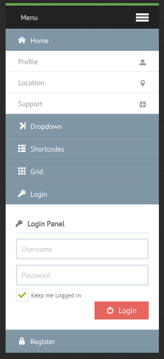 CSS3 Sticky Responsive Dropdown Menu