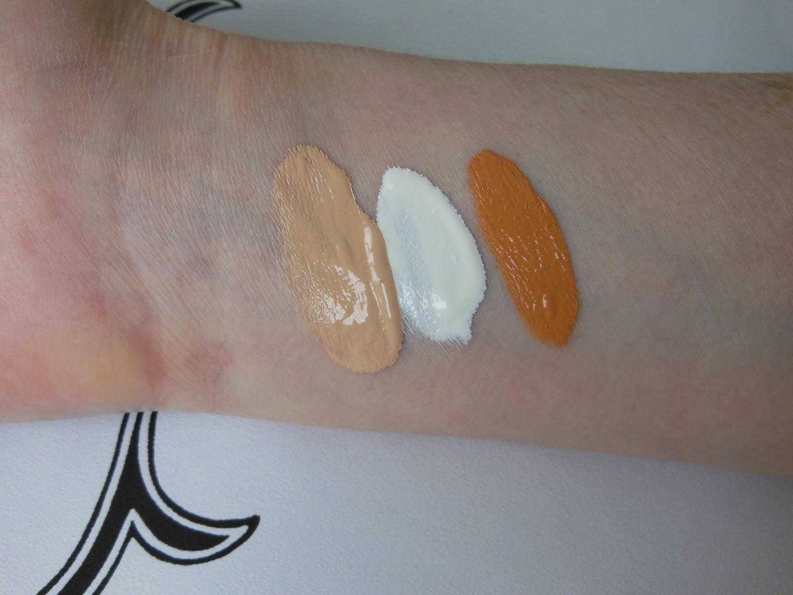 Illamasqua skin base mixer swatches