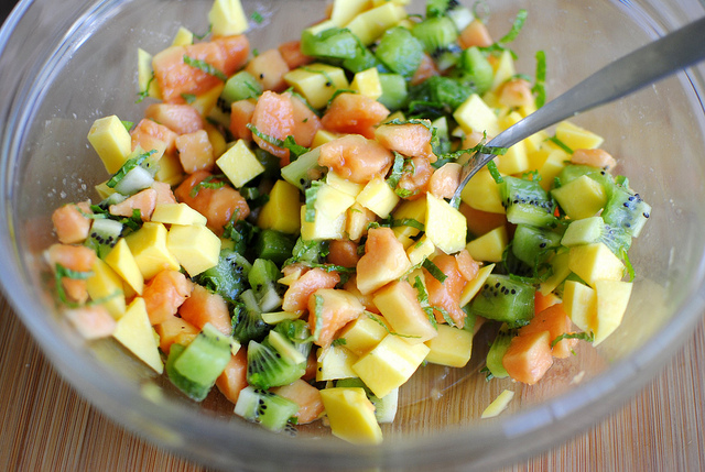 Tropical Fruit Salsa l SimplyScratch.com