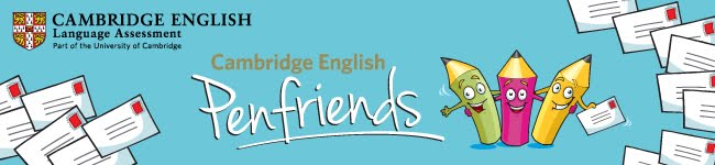 We take part in Cambridge English Penfriends!