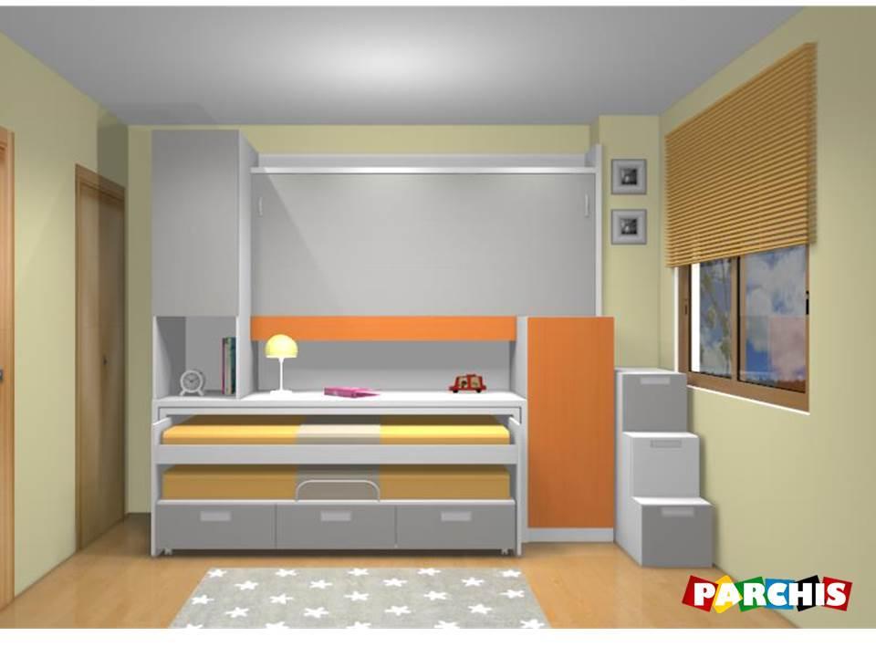 Muebles juveniles dormitorios infantiles y habitaciones - Camas con cama debajo ...