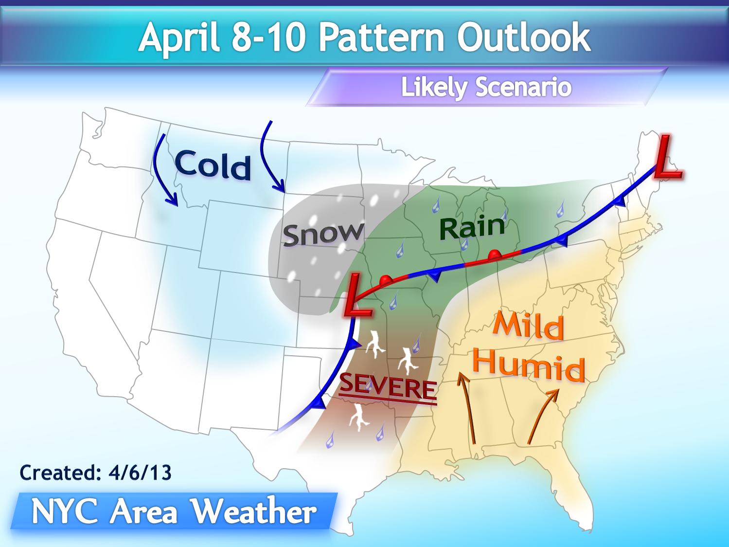 weather forecast usa april 2013