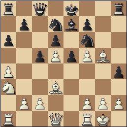 Partida de ajedrez Ponce-Ridameya, posición después de 13.Axg5