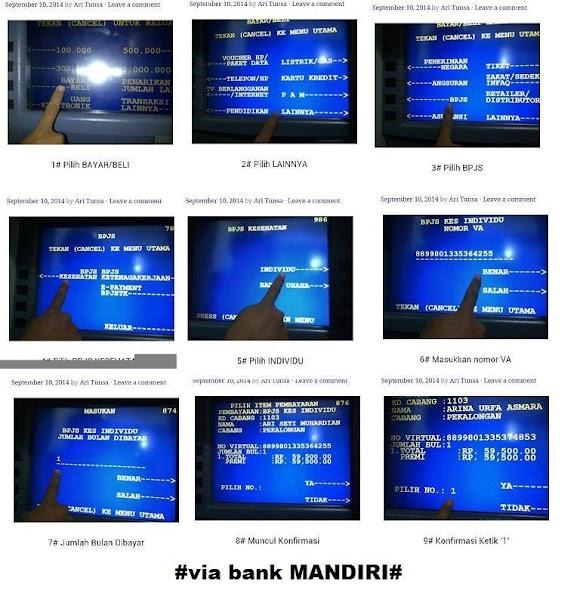 Pembayaran BPJS melalui ATM Mandiri