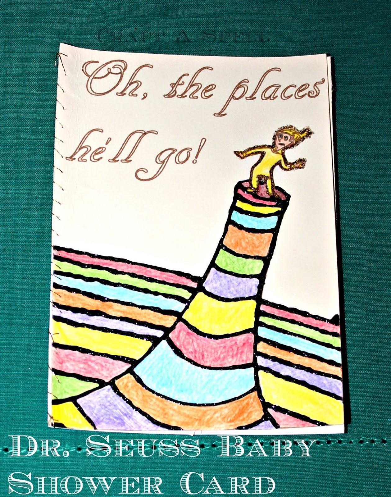 Craft A Spell Dr Seuss Baby Shower Card
