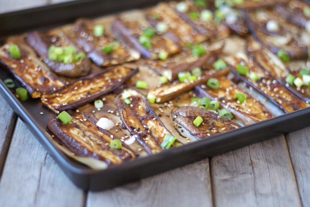 Miso-Glazed Roasted Eggplant - Craving Greens