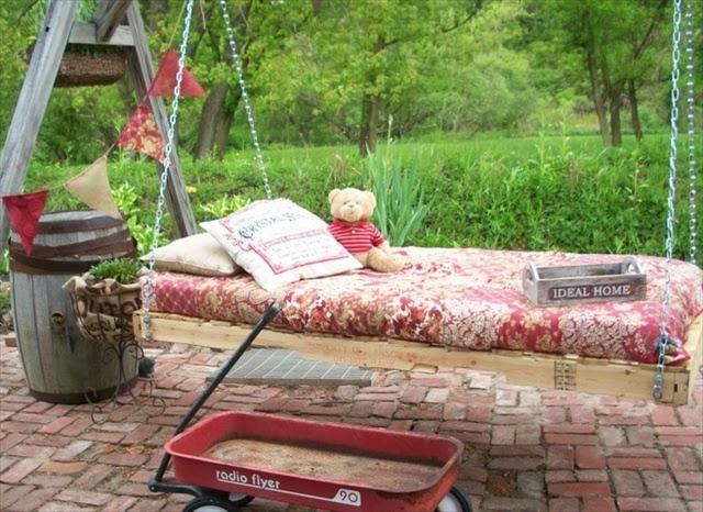 Muebles de jardin con palets for Bricolaje para jardin