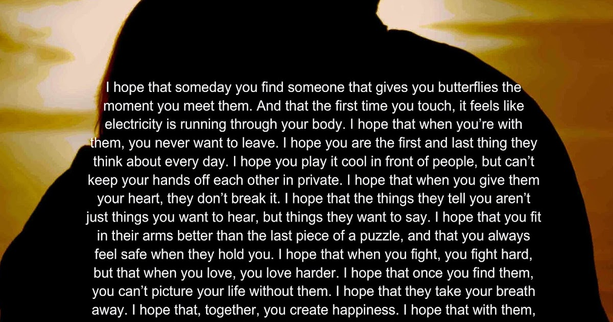 Awesome Quotes: I hope someday you find it.