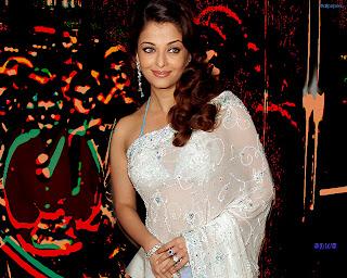 Aishwarya Rai Latest Saree Wallpapers
