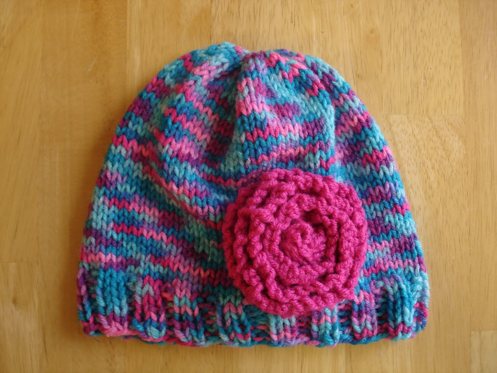 Free Knitting Patterns For Toddler Hats On Straight Needles : Fiber Flux: Free Knitting Pattern! Cotton Candy Hat