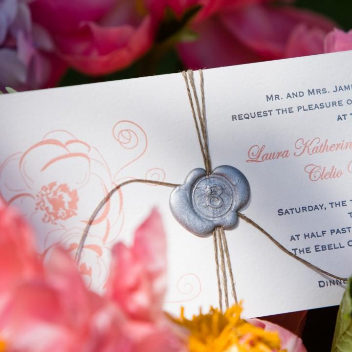 Loving Wedding Invitation Wax Seals