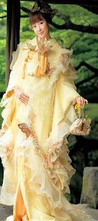 Yellow Kimono Dress