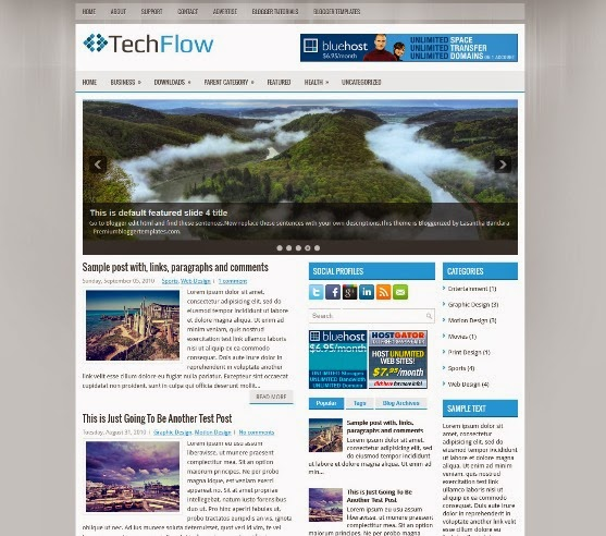 TechFlow Blogger Template