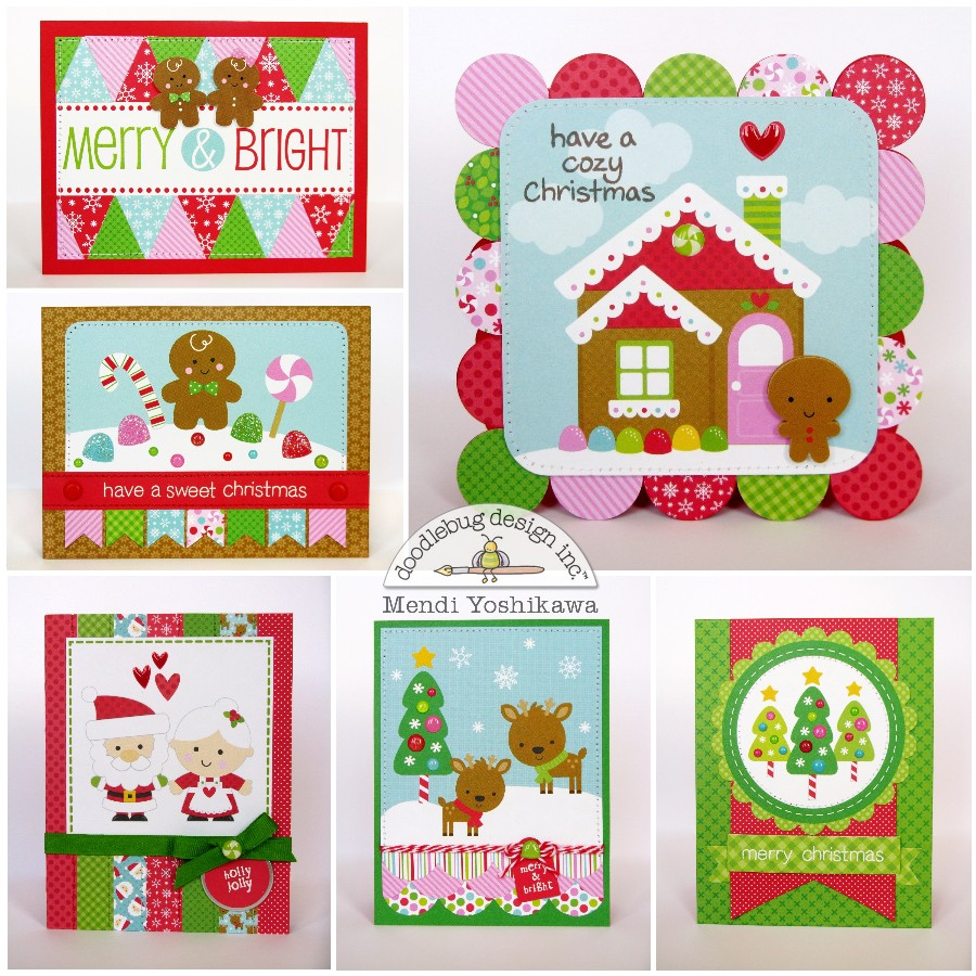 Snippets by mendi doodlebug designs sugarplums christmas cards to make it reasonable to create multiples i focused on embellishing my cards with the darling 4x4 and 4x6 scenes from the christmas magic and merry magic kristyandbryce Choice Image