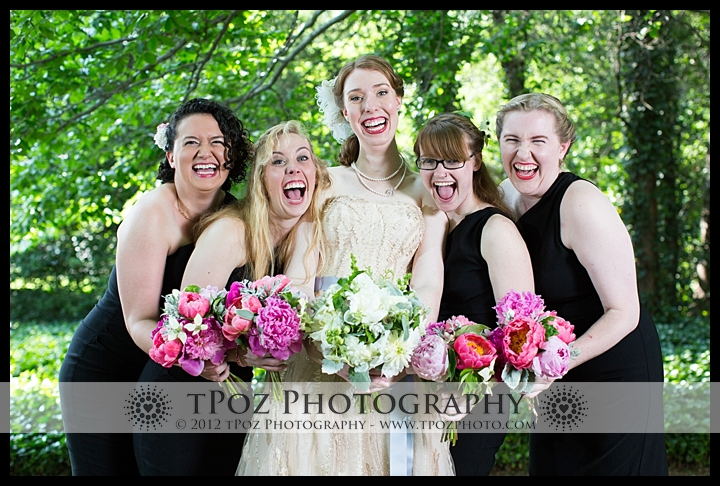 Bridesmaids Portrait Cathedral of the Incarnation Wedding Ceremony