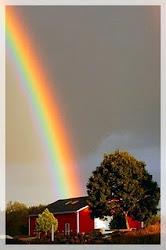 La felicidad, como el arco iris, no se ve nunca sobre la casa propia, sino sólo sobre la casa ajena