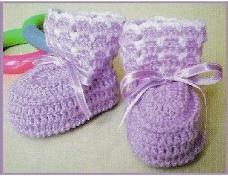 Escarpines de Bebé a Crochet o Ganchillo