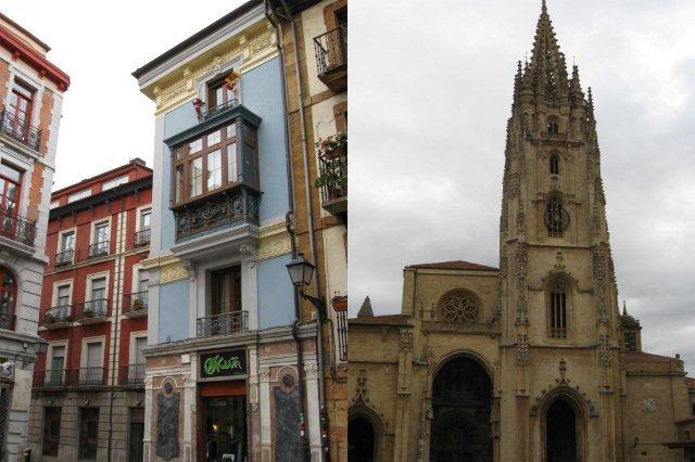 Calle y Catedral de Oviedo