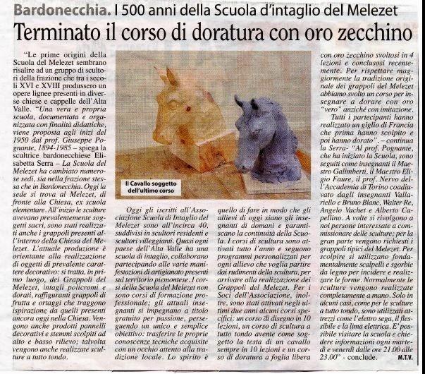 La VALSUSA. articolo del 1 maggio 2014