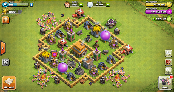 Thropy Base Clash of Clans TH 5