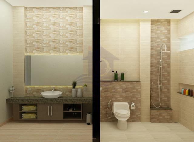 Desain Interior Toilet Rumah Tinggal di Sukoharjo