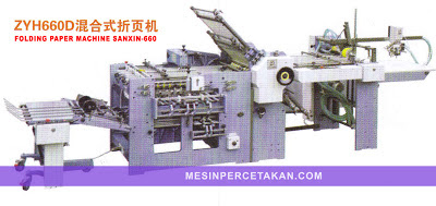 Folding paper machine SANXIN-660E