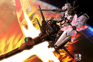 deviantart digital painting fanart gundam fan art sandrum unicorn delta plus