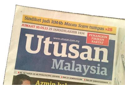 Adibah Karimah dalam Utusan Malaysia