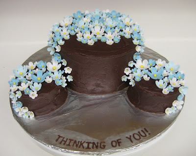 Thinking of You Cake with Blue Flowers 2