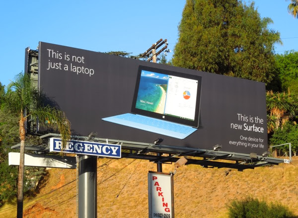 not just a laptop New Surface billboard