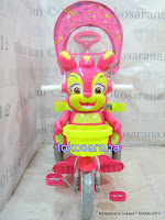Sepeda Roda Tiga Royal RY9882C Baby Roi dengan Mainan Interaktif dan Canopy