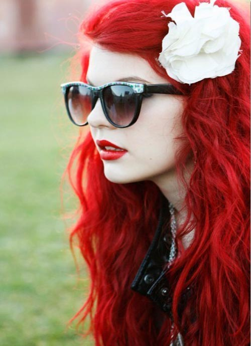 very beautiful hair color on woman