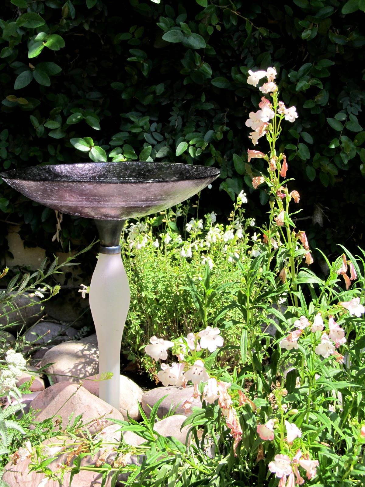 fairy yardmother landscape design diy bird bath thrift store edition