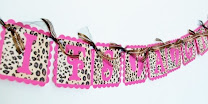 Pink Leopard It's A Girl Banner