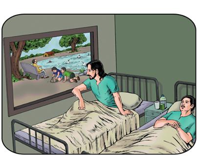 Cerita Inspirasi Bahasa Inggris: The Man in the Next Bed