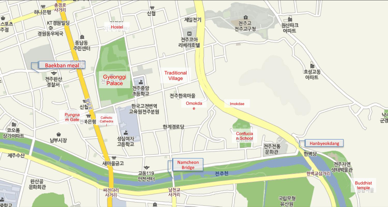 In My Seoul Jeonju - Jeongju map