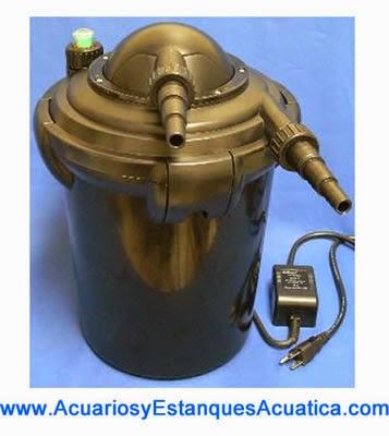 Tutoriales consejos acuarios y estanques acuatica for Filtro agua estanque