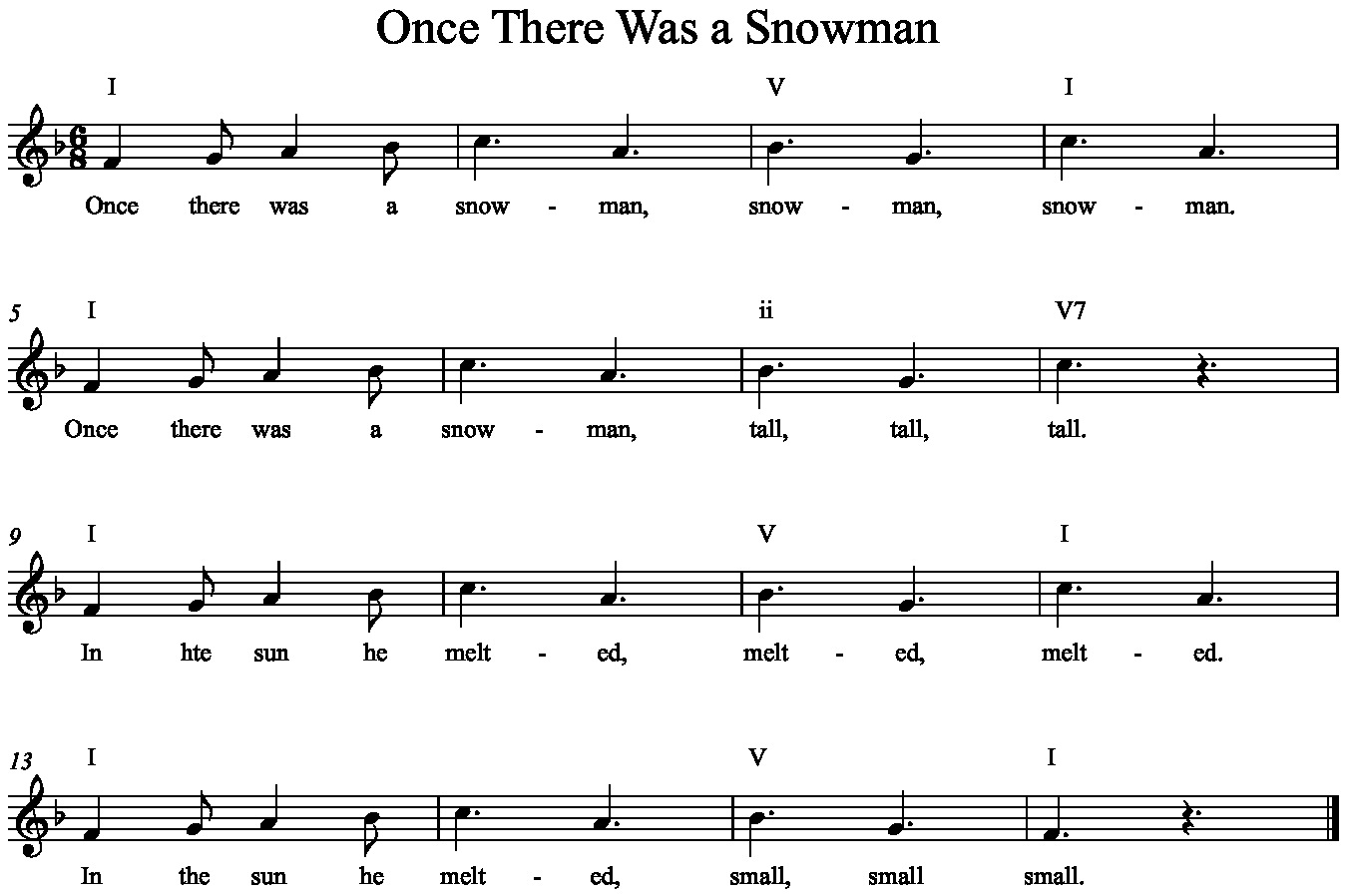 once there was a snowman music a la abbott amy abbott